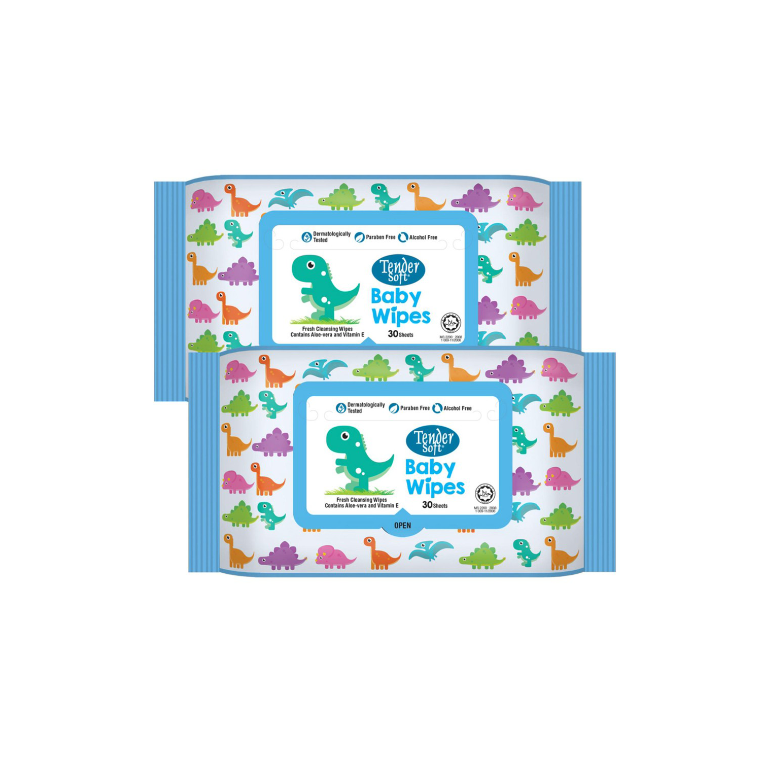 Tender Soft Baby Wipes 2 X 30'S ( Blue )