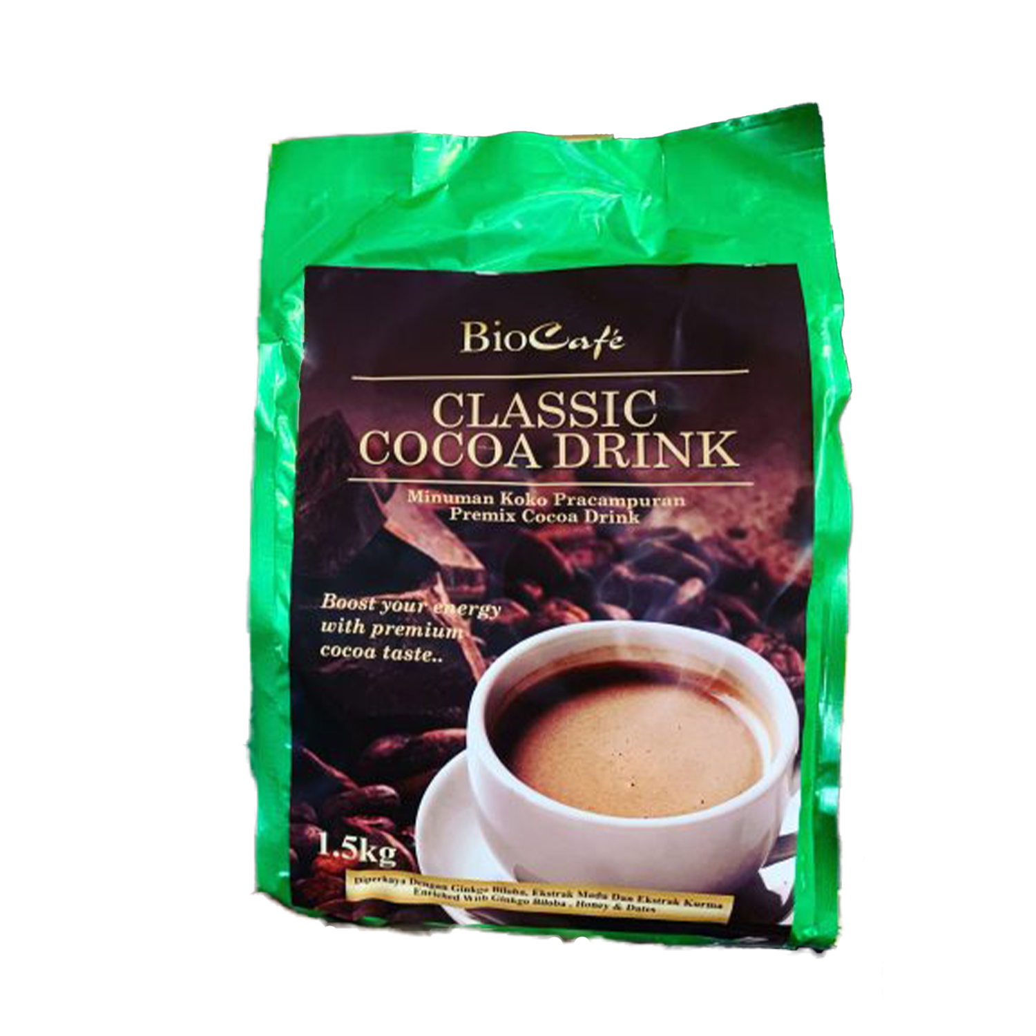 Biocafe Classic Cocoa Drinks 1Kg - Pouch