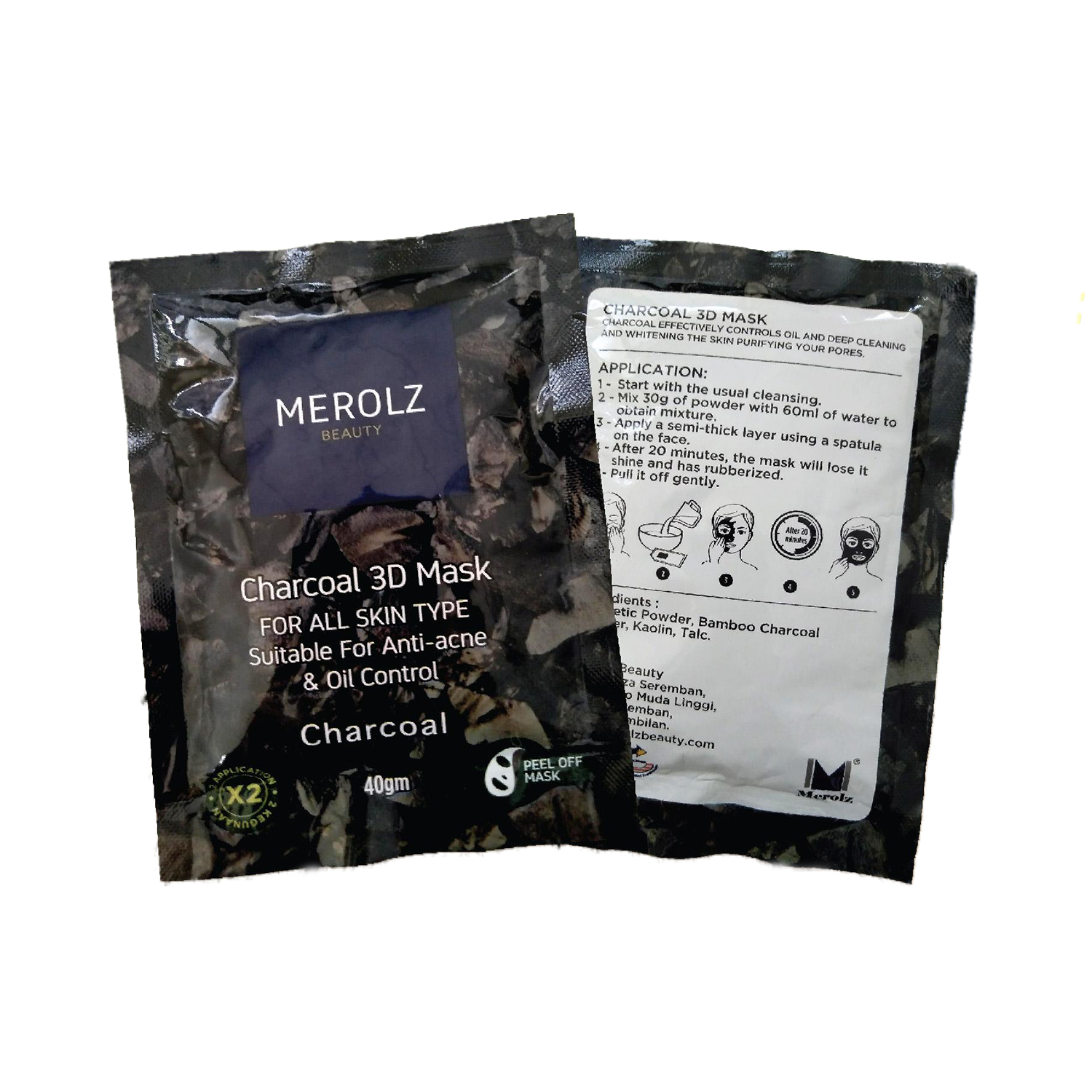 Merolz 3D Mask Charcoal Oil Controll 40G