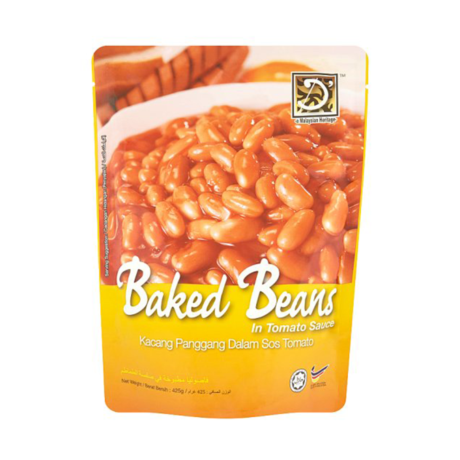 D'HERITAGE BAKED BEANS IN TOMATO SAUCE 425GM