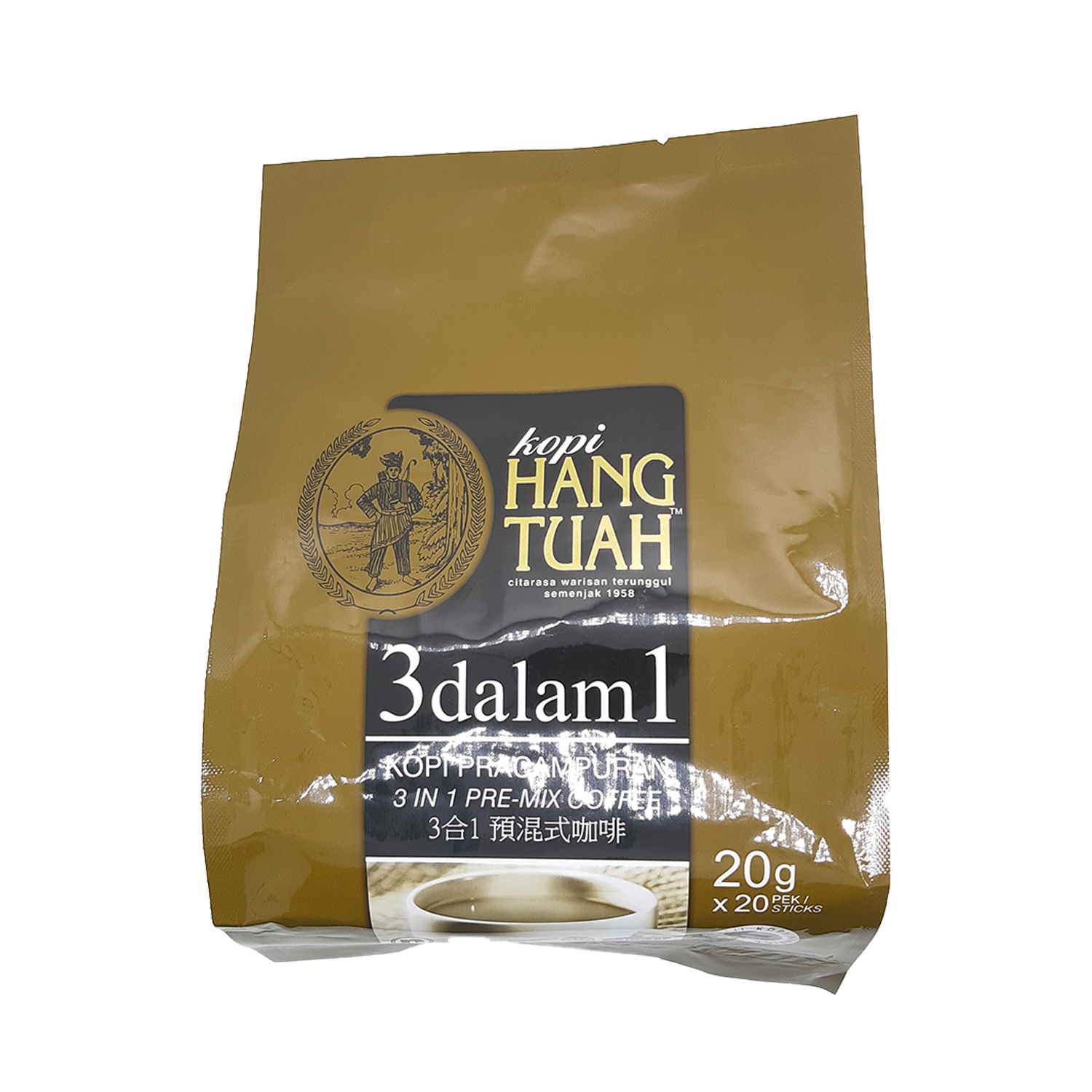 HANG TUAH PRE-MIX COFFEE 3IN1 20'S