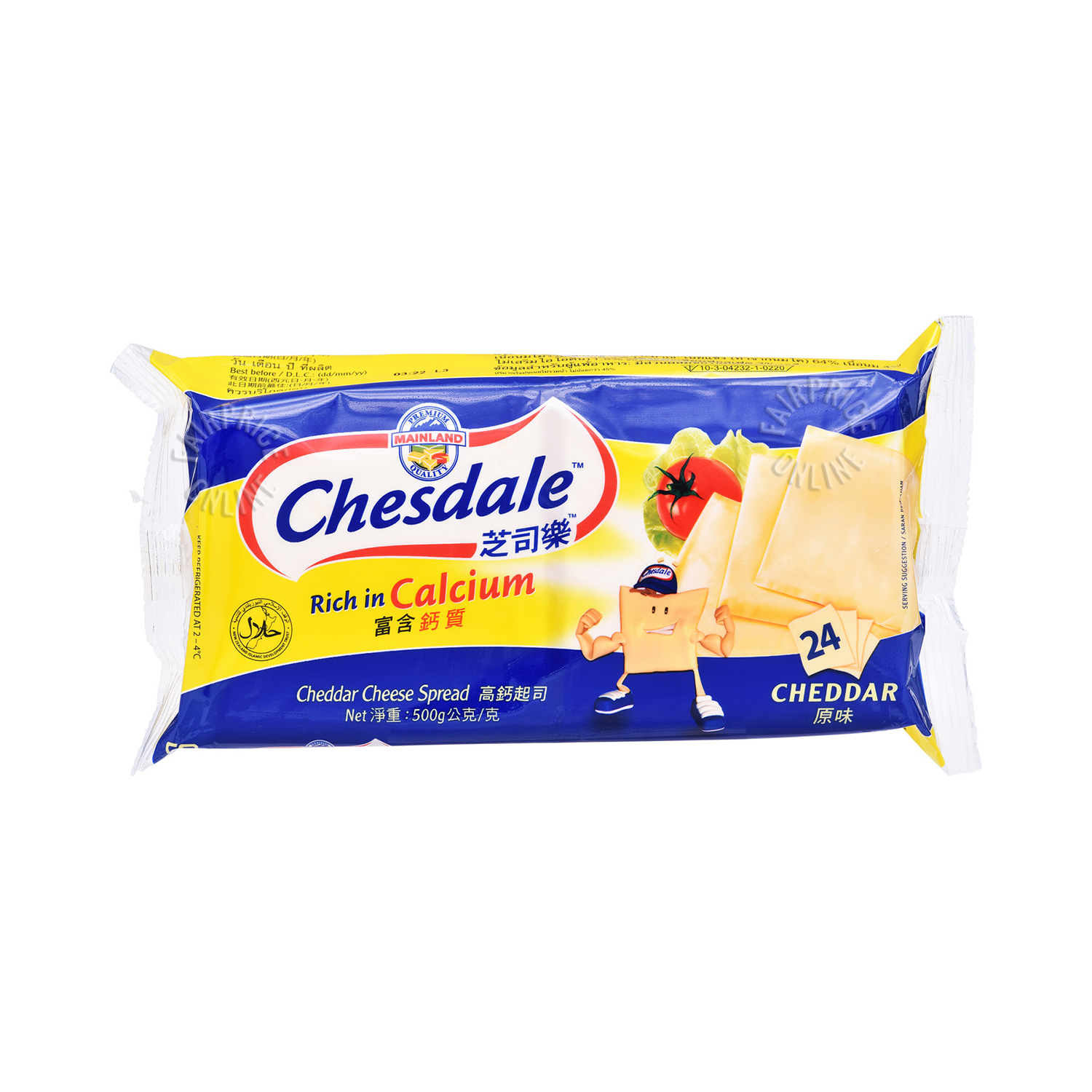 Chesdale Processed Cheese 24'S 500Gm